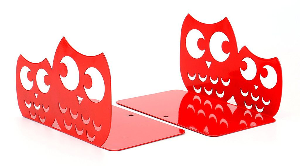 Red Owl Bookends