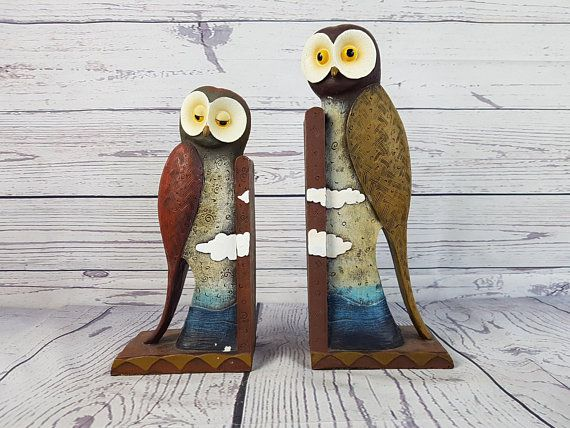 night owl bookends