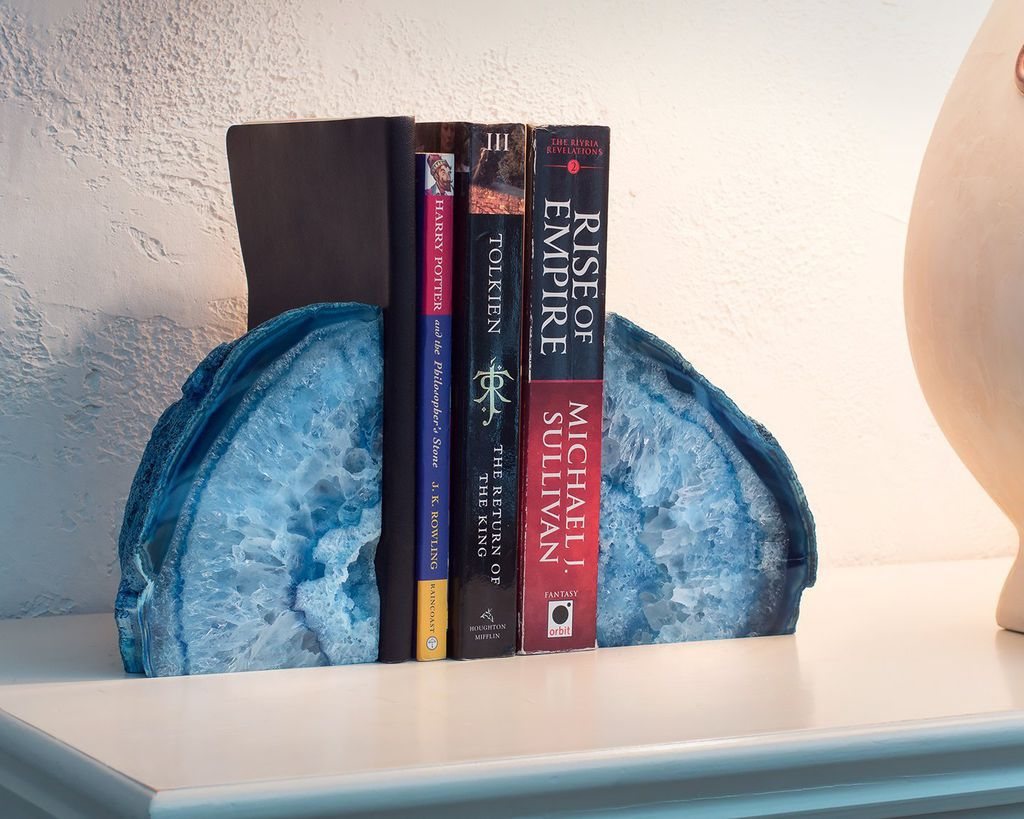 15 Smashingly Beautiful Agate And Geode Bookends Book Riot