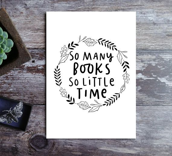 So Many Books, So Little Time Book Wall Art