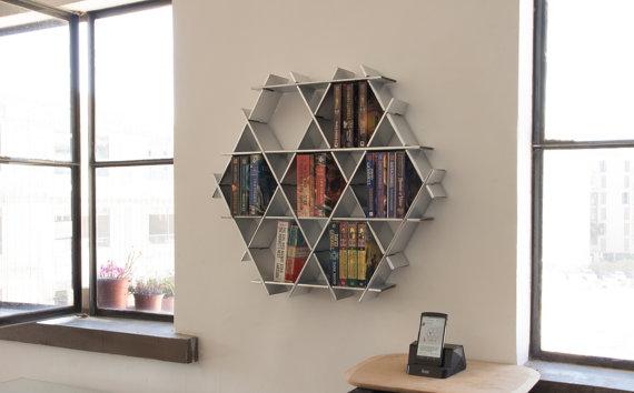 Space Saving Bookshelves From Etsy