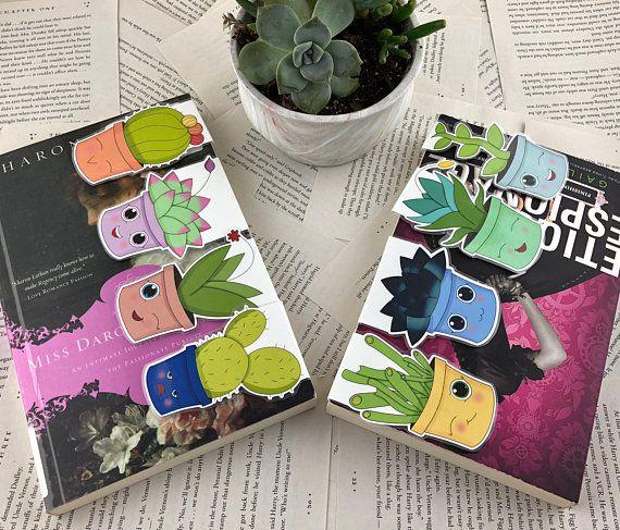 Succulent magnetic bookmark