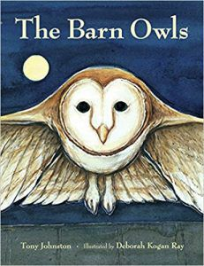 THE BARN OWLS BY TONY JOHNSTON book cover