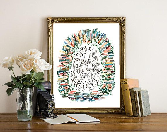 Location of the Library Book Wall Art Print