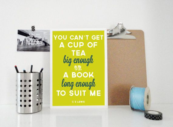 Book Long Enough book wall art quote