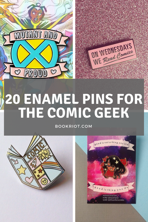 comic book enamel pins