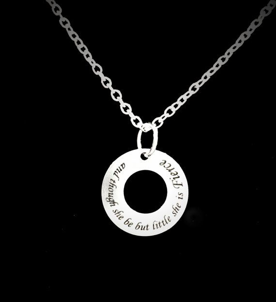 And Though She Be But Little She Is Fierce Necklace - HeavenlyCharmed