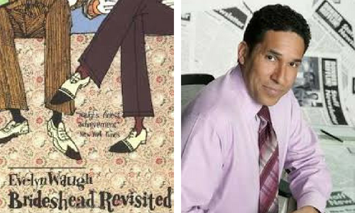 Brideshead Revisited book cover and Oscar from The Office