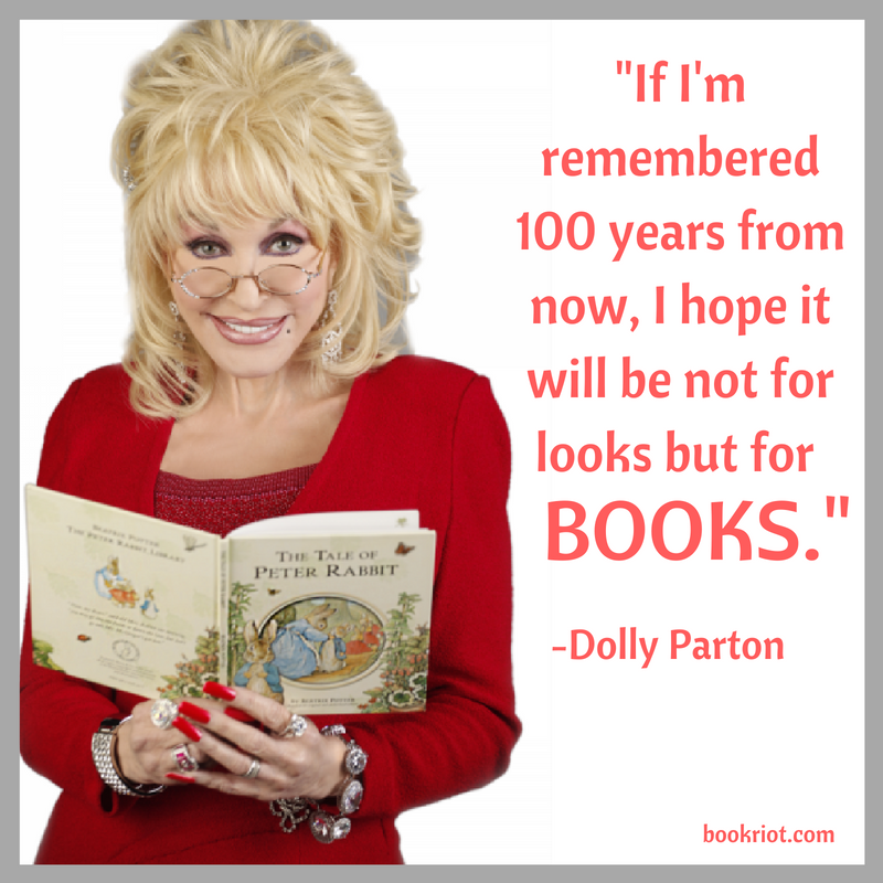 Dolly Parton quotes on reading