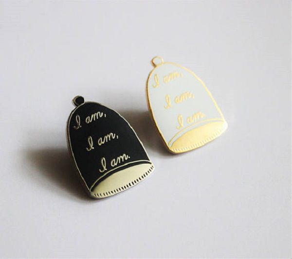 I am I am I am Bell Jar Lapel Pin by TheSilverSpider