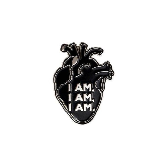 I am I am I am - Sylvia Plath inspired enamel pin by AhoyKollektiv