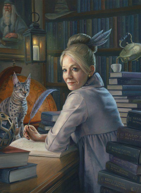 JK Rowling Painting