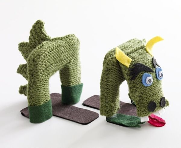 Free knit pattern dragon bookends