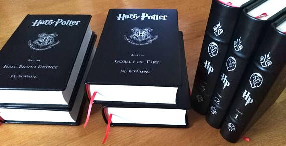 Leather Bound Harry Potter Books Etsy