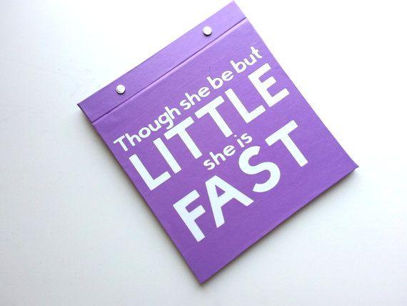 Race Bib Holder Though She Be But Little She Is Fast - BibBinders