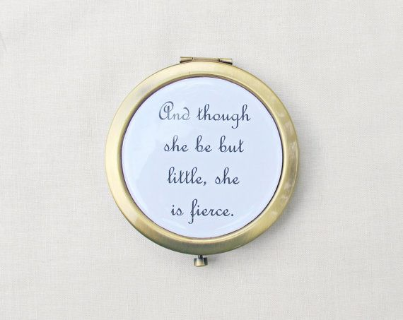 Shakespeare Compact Mirror Pocket Quote - DomumVindemia