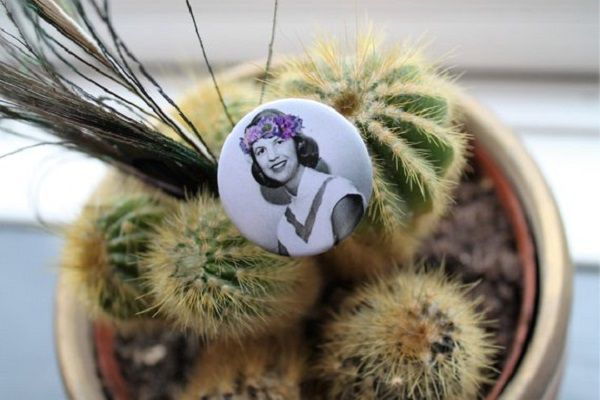 Sylvia Plath in a Flower Crown from ThatLOvelyBrooch