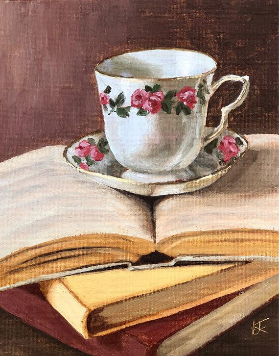 Teacup Book Painting