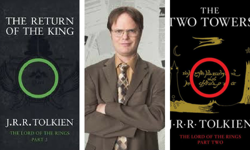 The Lord of the Rings and Dwight from The Office
