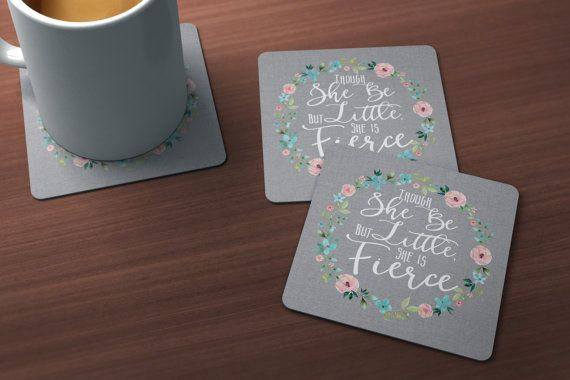 Though She Be But Little Coasters - LuxePalette