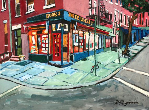 Three Lives Bookstore Painting