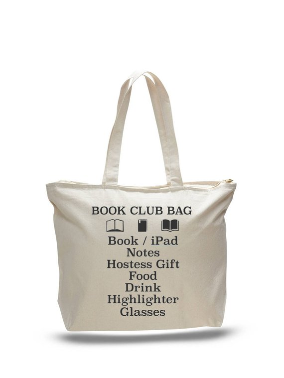If ever you needed the perfect big tote for your book club meeting 7a696c622fa27