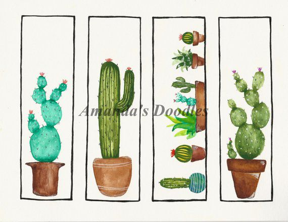 downloadable cactus bookmarks