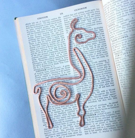 Copper llama bookmark