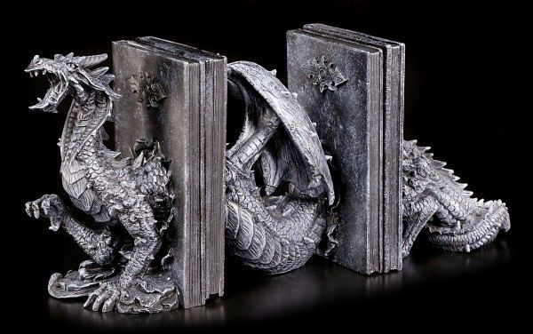 Threepart dragon bookend