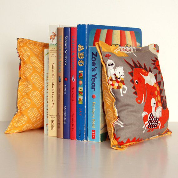 Dragons and knights pillow bookends for children