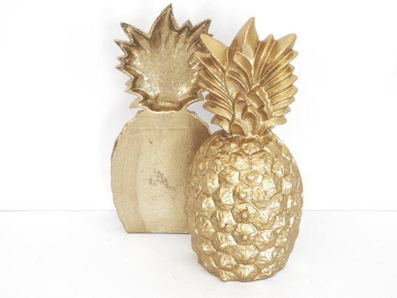glam pineapple bookends