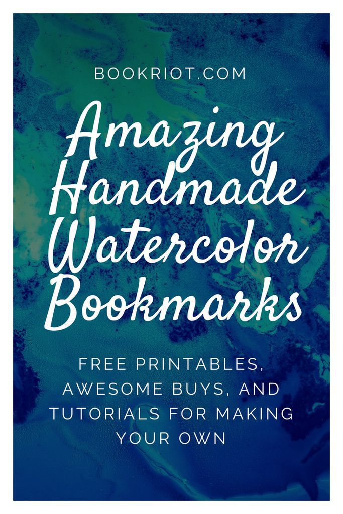 Awesome handmade watercolor bookmarks to make and to buy.DIY | Watercolor bookmarks | Watercolor bookmark tutorials | printable watercolor bookmarks