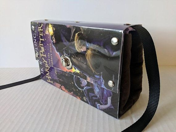 Harry Potter Philospher's Stone recycled book bag cluth