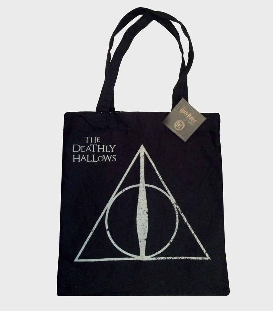 Harry Potter Deathly Hallows symbol book bag