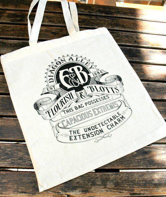 Harry Potter Flourish and Blotts book bag