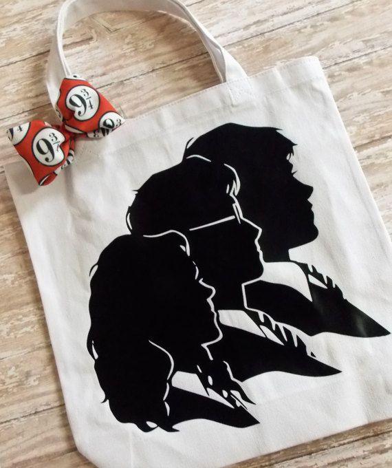 Harry Potter trio silhouette book bag
