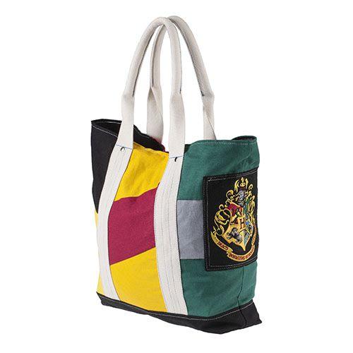 Harry Potter Large Hogwarts Houses Book Bag with Crest