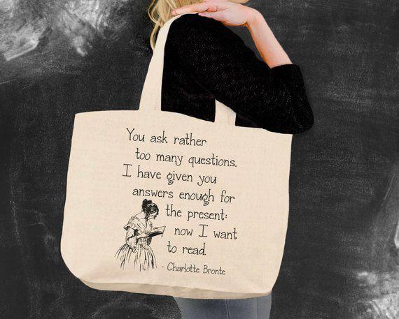 Charlotte Bronte Book Tote Bag