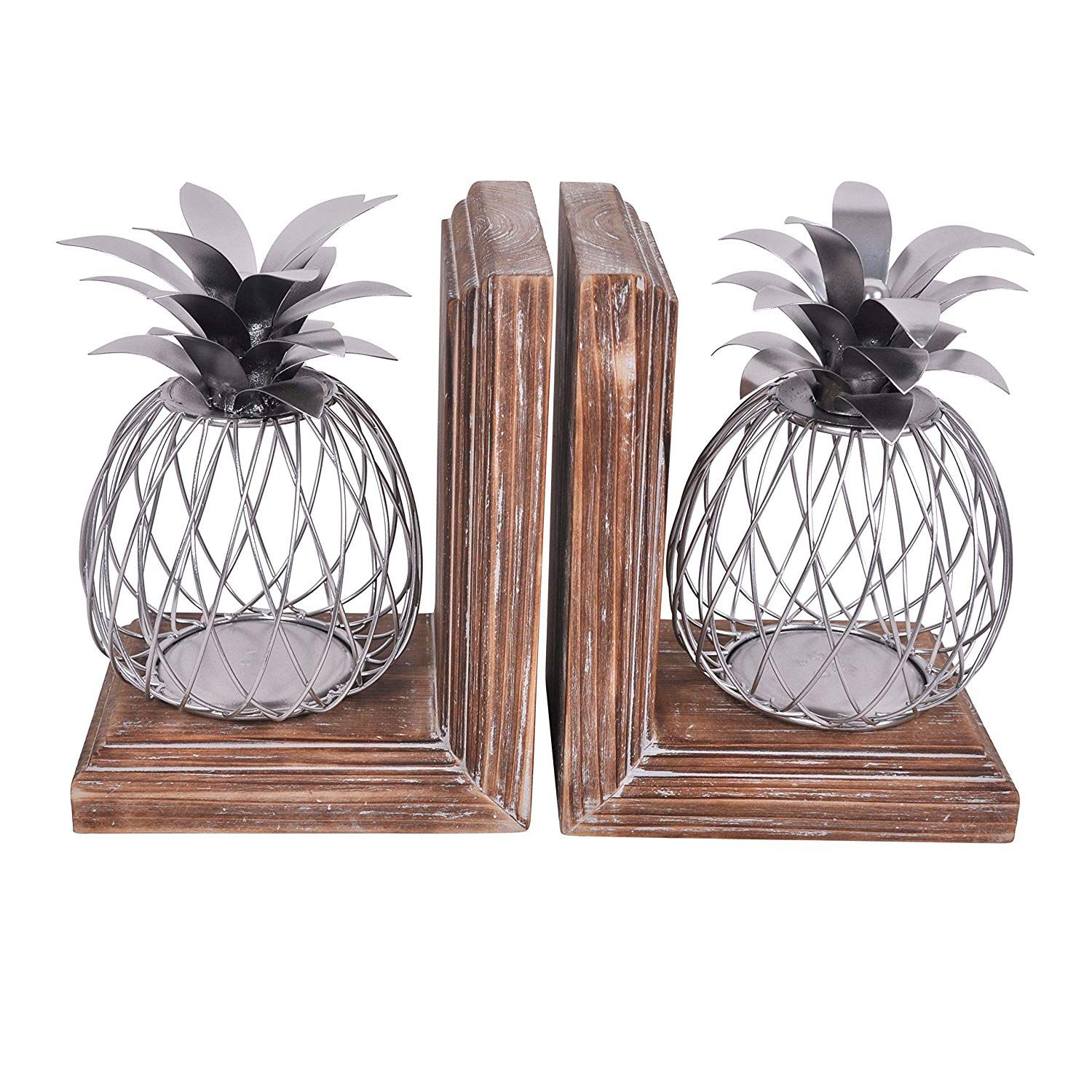 Iron pineapple bookends