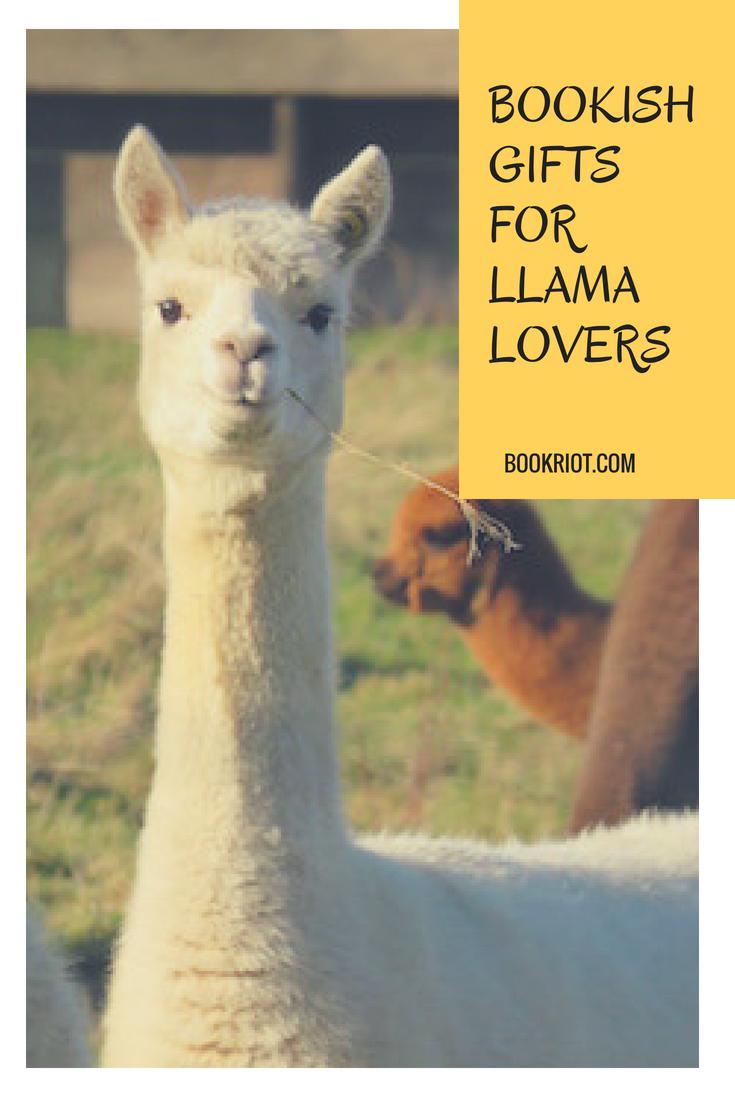 llama bookends, llama bookmarks, and other bookish llama gifts