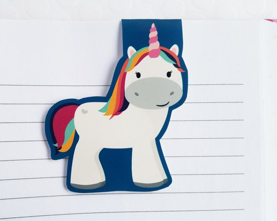 magnetic unicorn bookmark
