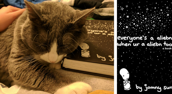 My cat reviews Everyone's a Aliebn When Ur a Aliebn Too by Jomny Sun