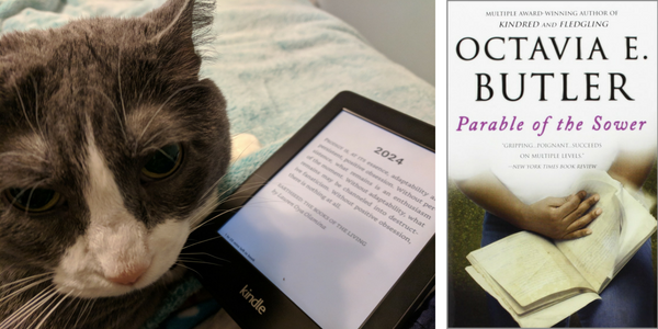 My cat reviews Parable of the Sower by Octavia E. Butler