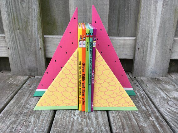 Another set of pineapple and watermelon bookends