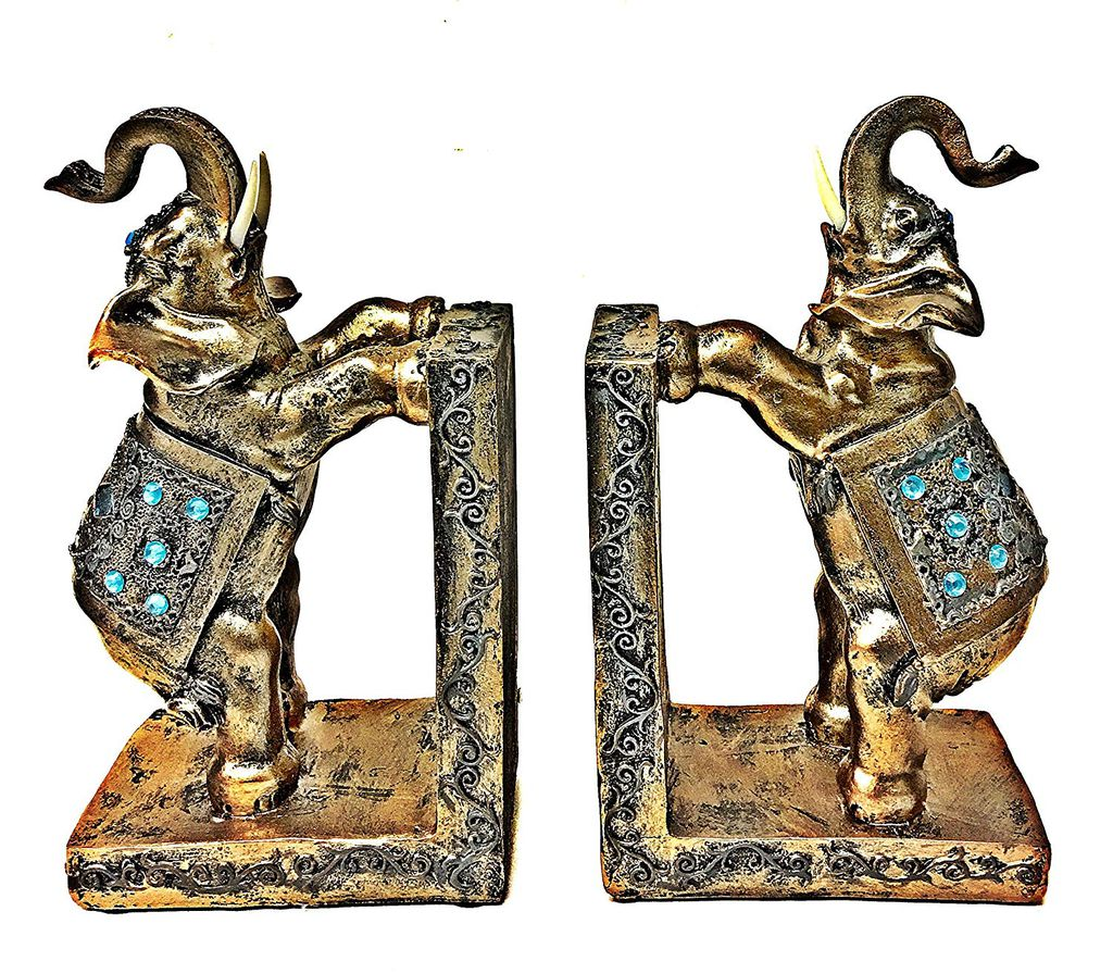 10 Of The Best Elephant Bookends to Hold Up Your Books | Book Riot