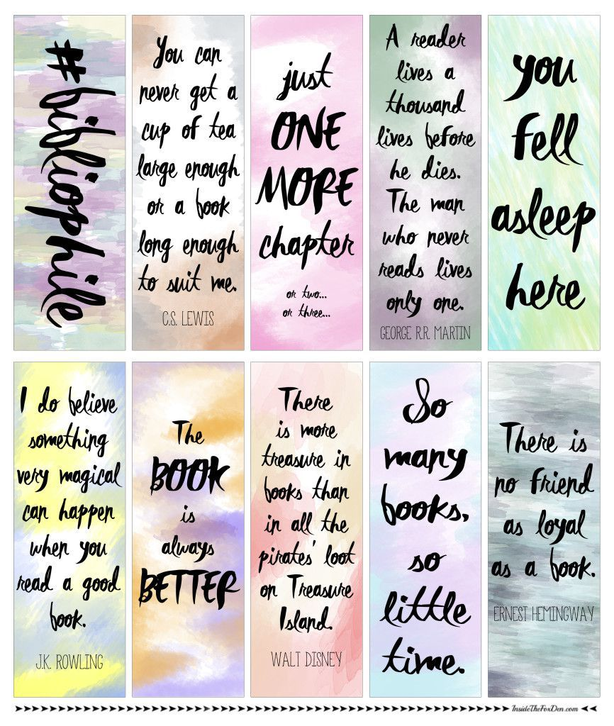 free downloadable watercolor bookmarks