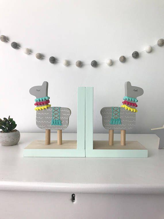 adorable llama bookends