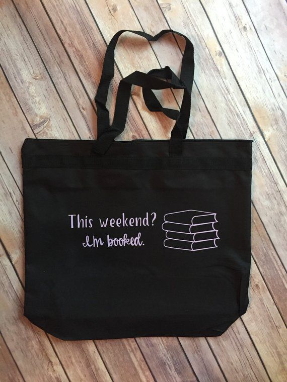 This weekend I'm booked big book bags