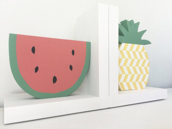 watermelon and pineapple bookends