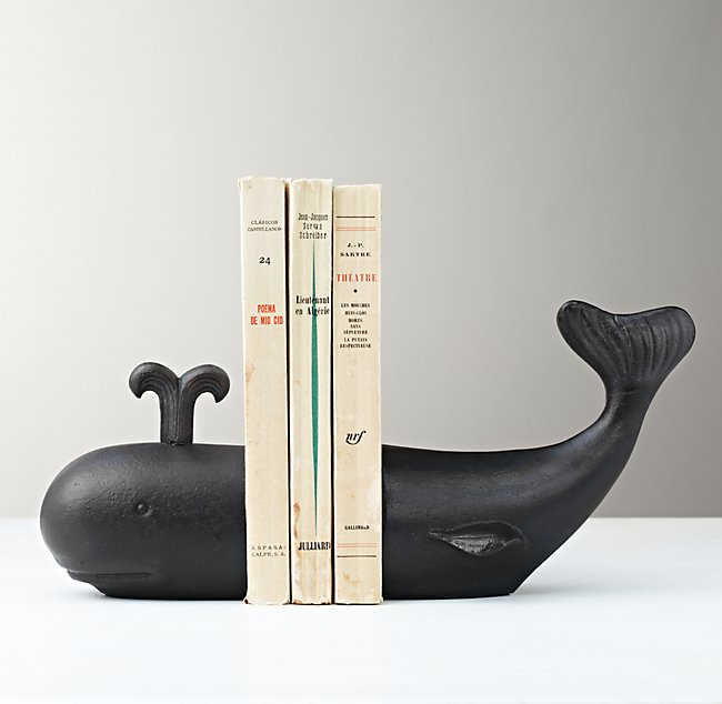 Whale Bookend Spouting Water
